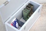 boots and overalls storage
