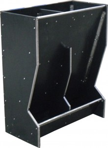 Twin space sow feeder