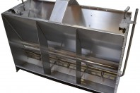 stainless steel wet/dry shelf feeder